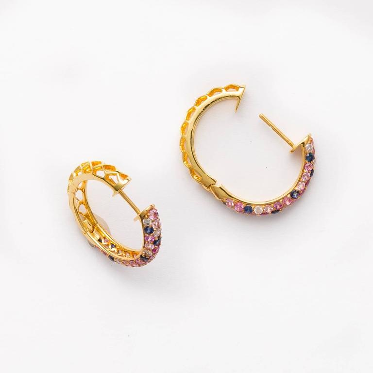 oval earrings dangle fierce shop products trinket multicolored mystic
