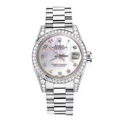 Da Vinci Lady's Yellow Gold Diamond Quartz Wristwatch For