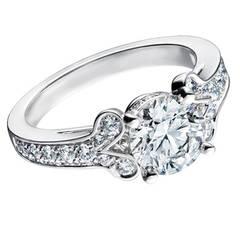 Cartier 2.15 Carat GIA Cert Diamond Platinum Ballerine Engagement Ring