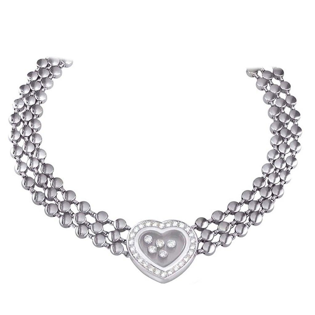 Chopard Designer Happy Diamond Gold Necklace