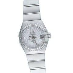 Omega Ladies Stainless Steel Constellation Diamond automatic Wristwatch