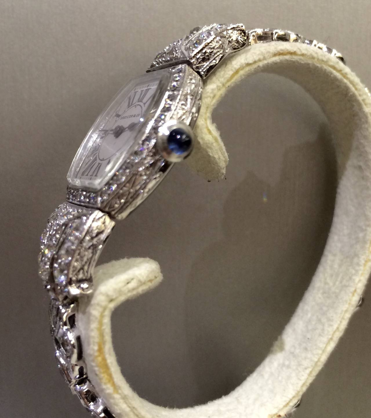 DREICER Platinum and Diamond Watch circa 1920s  2