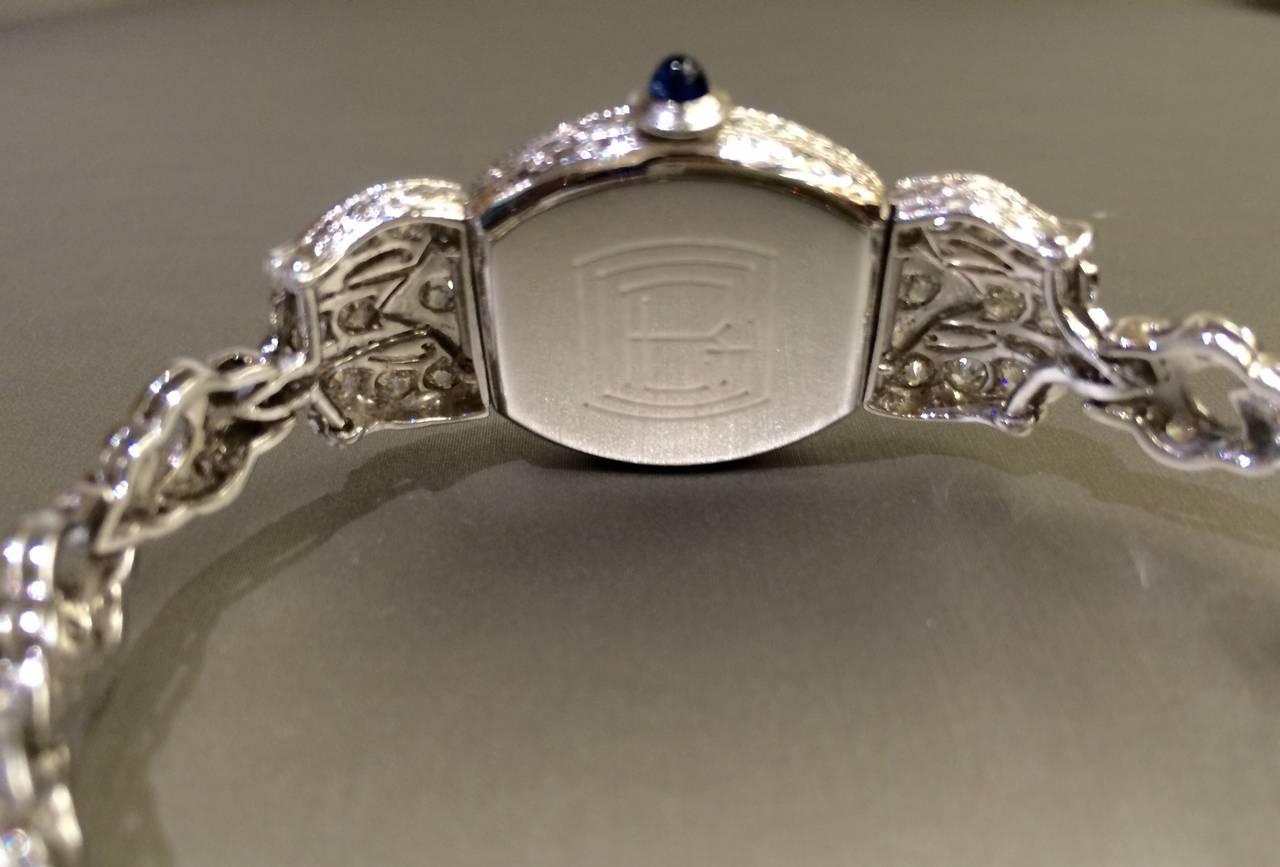 DREICER Platinum and Diamond Watch circa 1920s  3