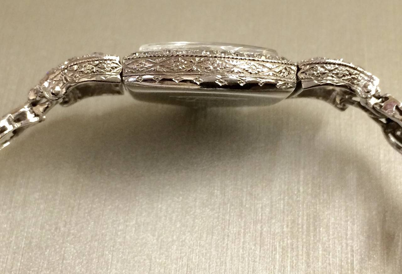 DREICER Platinum and Diamond Watch circa 1920s  5
