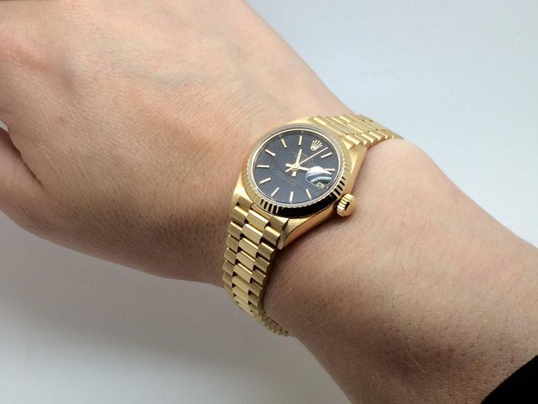 025fa32faab Rolex Yellow Gold Datejust President automatic Wristwatch Ref 69178 ...