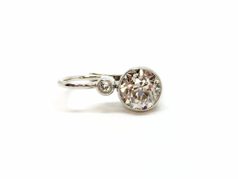 Diamond Drop Earrings 2.20 Carat In Excellent Condition For Sale In Ottawa, CA