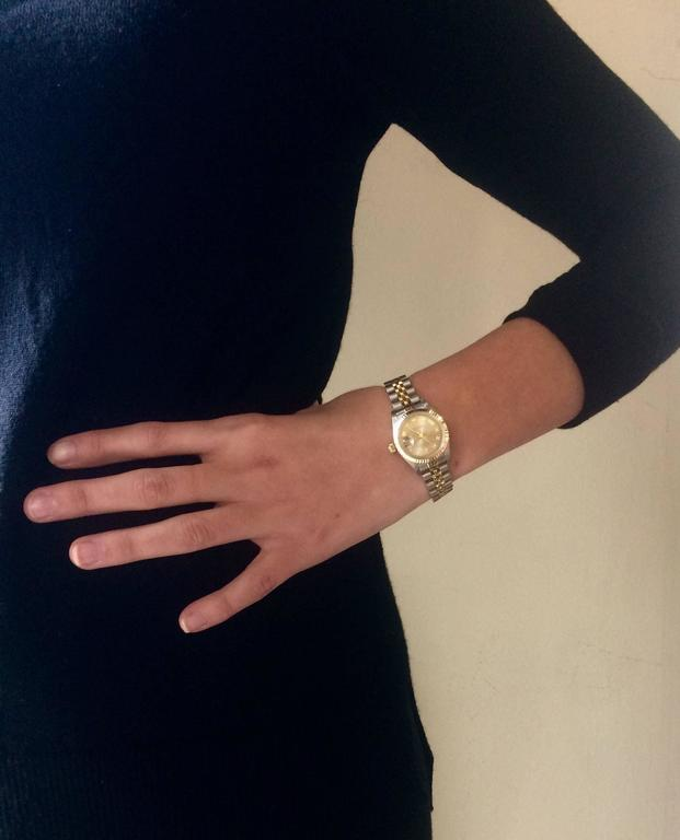 Rolex Ladies Yellow Gold Stainless Steel Datejust Automatic Wristwatch In  New Condition For Sale In Ottawa cc3c162ab