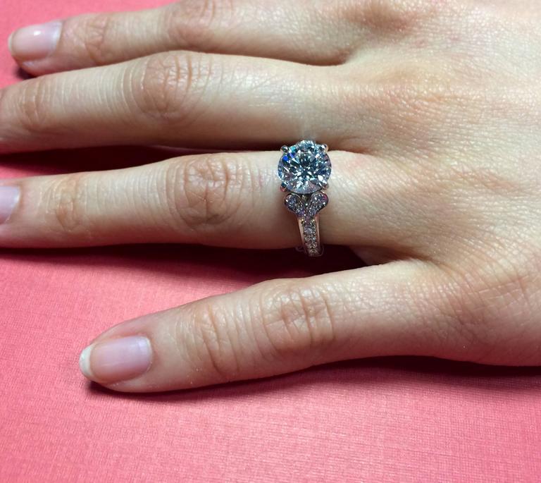 Cartier 2 15 Carat Gia Certified Diamond Platinum