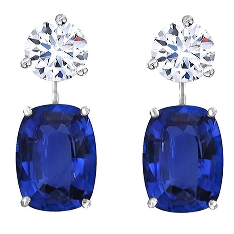 Natural Sapphire Drop Earring Enhancers 2