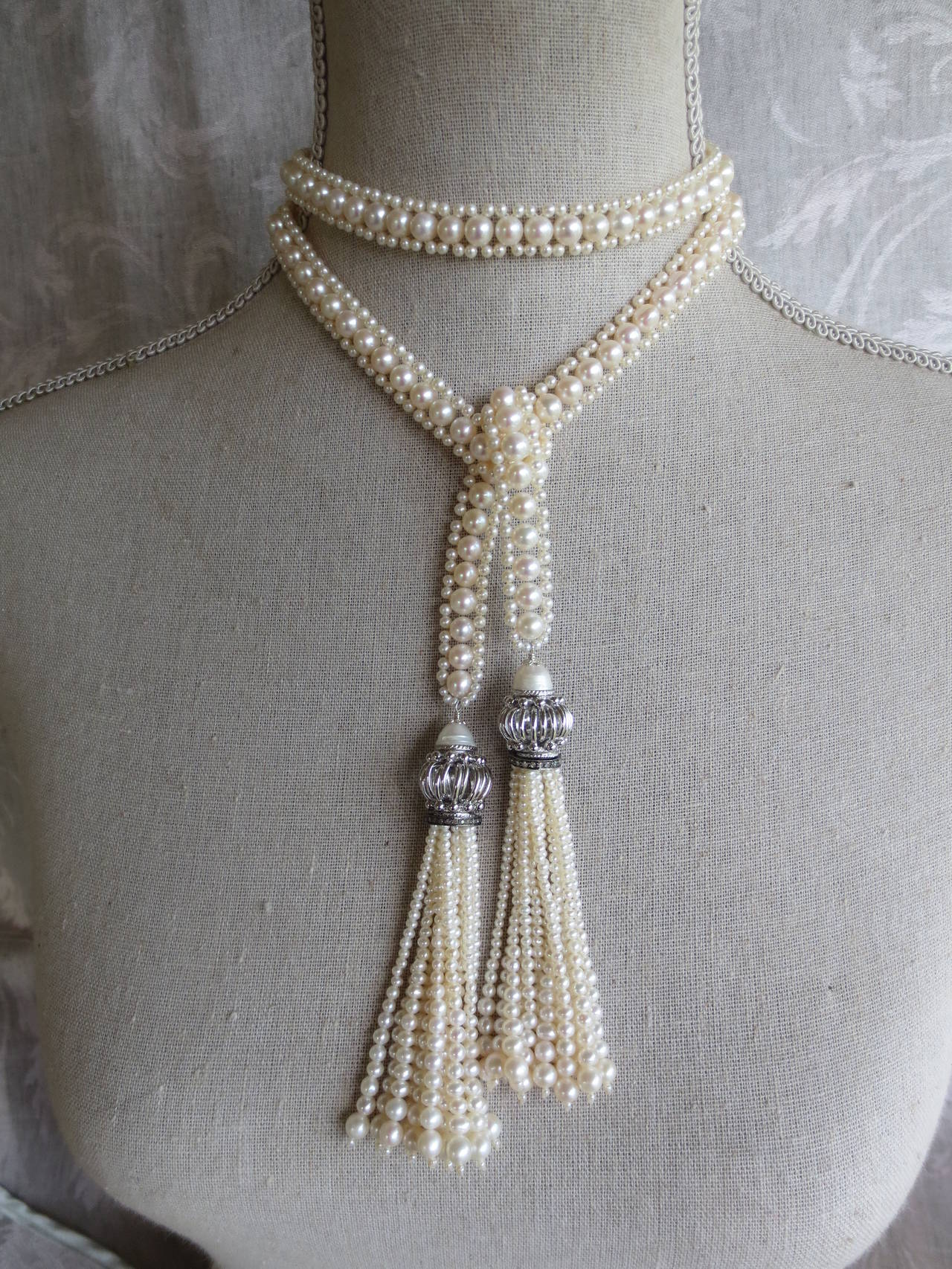 Pearl Tassel Sautoir 6