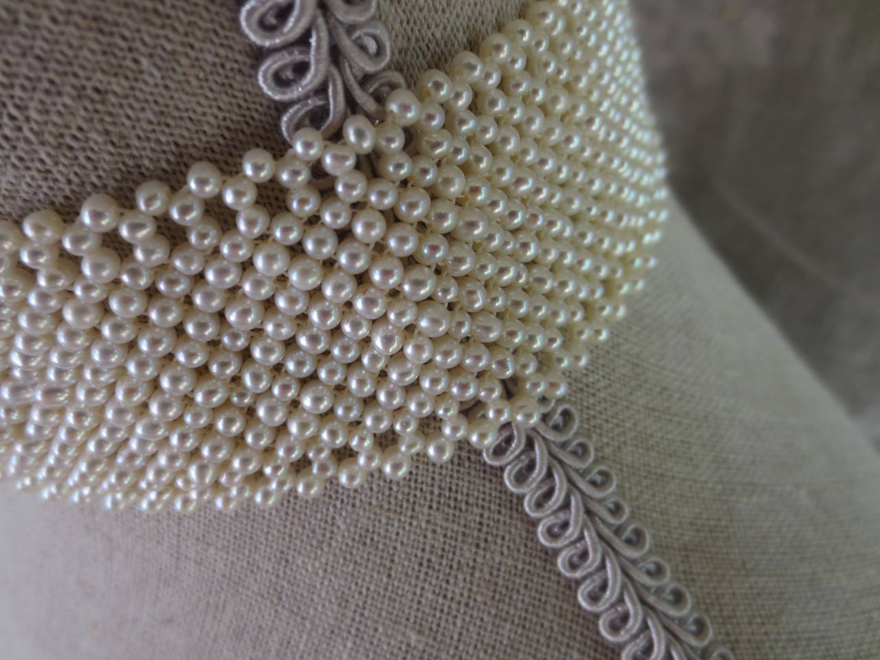 Marina J. Woven Pearl Choker Necklace In Excellent Condition For Sale In Beverly Hills, CA