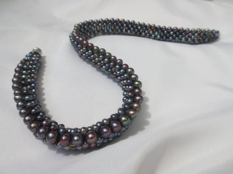Black Pearl Citrine Necklace For Sale 1