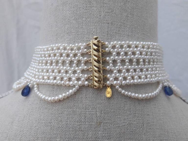 Marina J. Woven Pearl Draped Choker Necklace 6