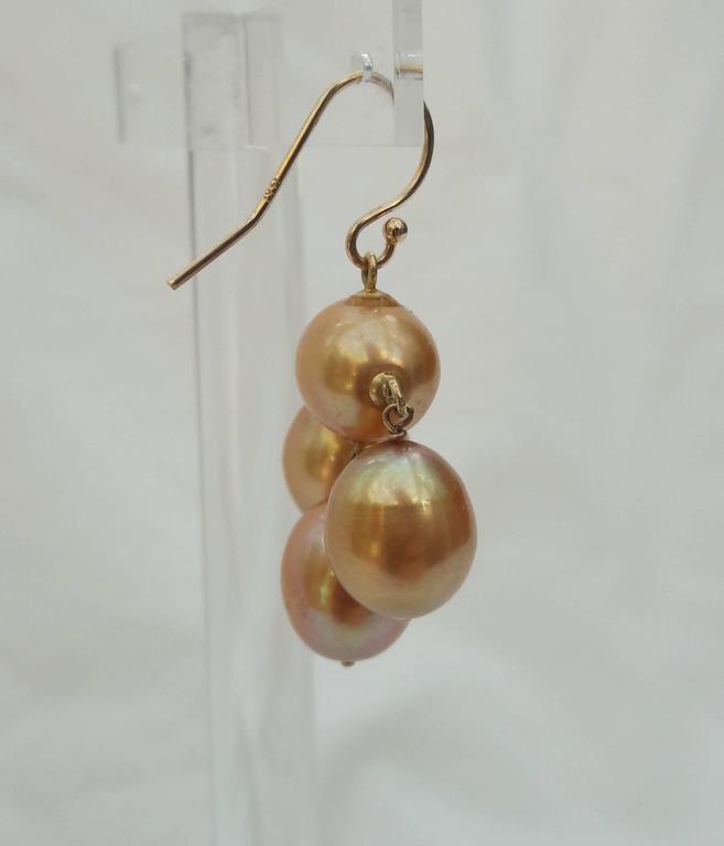 Women's Marina J. Baroque Pearl Gold Earrings For Sale