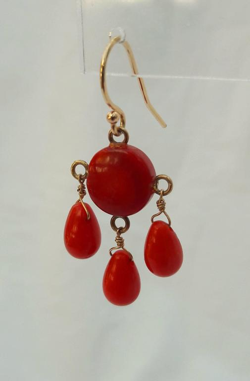 Marina J Coral Gold Dangle Earrings At 1stdibs