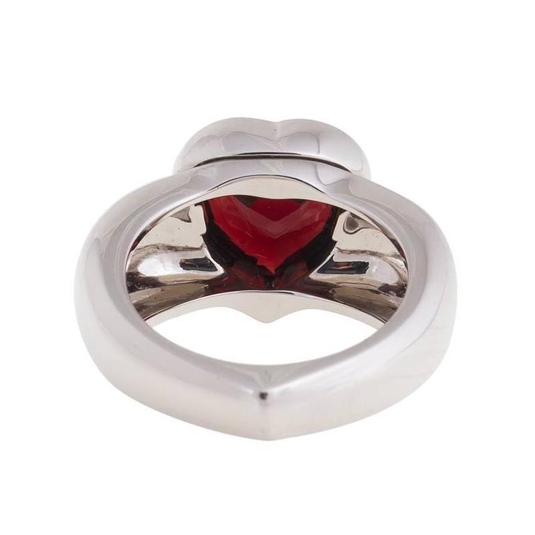 PIAGET Garnet White Gold Garnet Ring  2