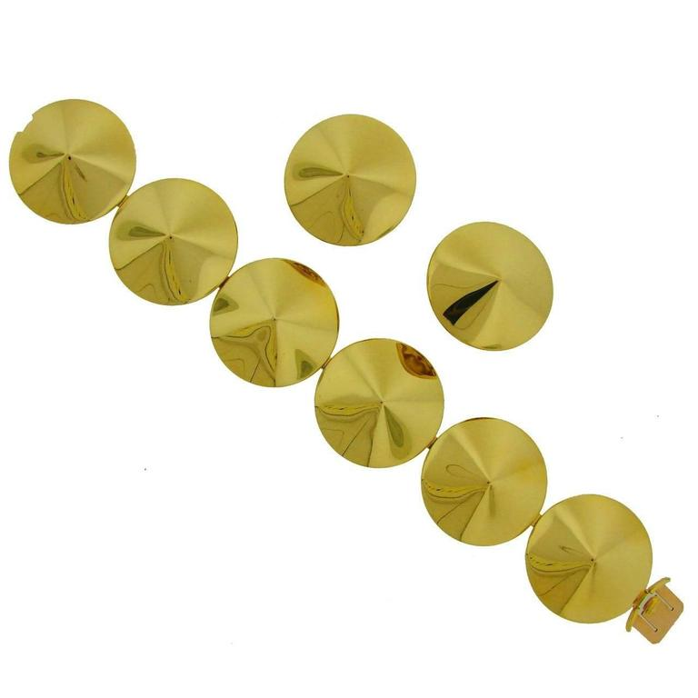 Van Cleef & Arpels Gold Chapeau Chinois Bracelet and Earclips Set For Sale