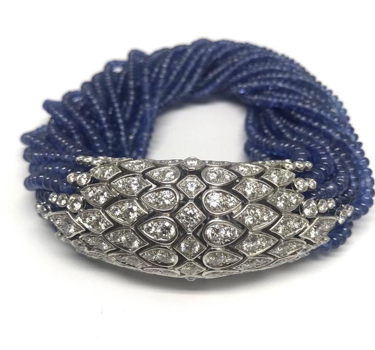 Cartier Paris Magnificent Sapphire Bead Torsade Diamond Bracelet 2