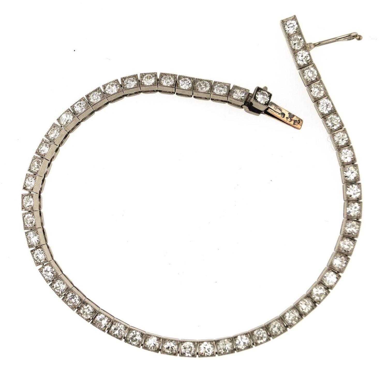 1920s cartier diamond platinum tennis bracelet at 1stdibs