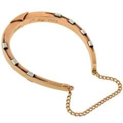 Edwardian Mixed Metals Lucky Horseshoe Bracelet