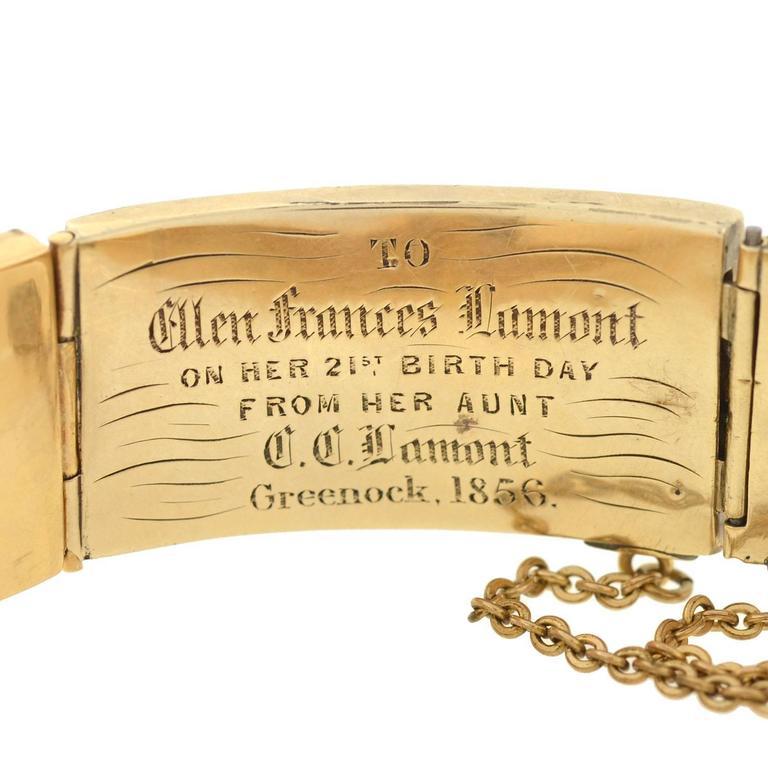 Victorian Scottish Agate Gold Link Bracelet For Sale 1