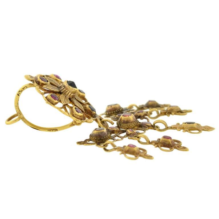 Georgian Garnet Gold Earrings For Sale At 1stdibs