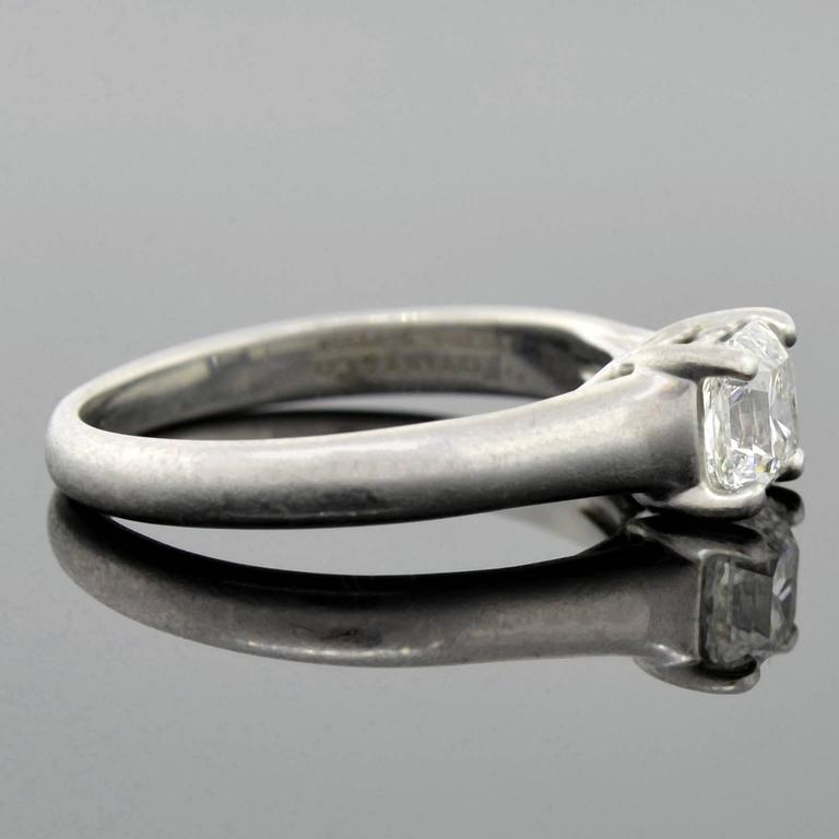 Contemporary Tiffany & Co. Diamond Platinum Lucida Solitaire Engagement Ring  For Sale