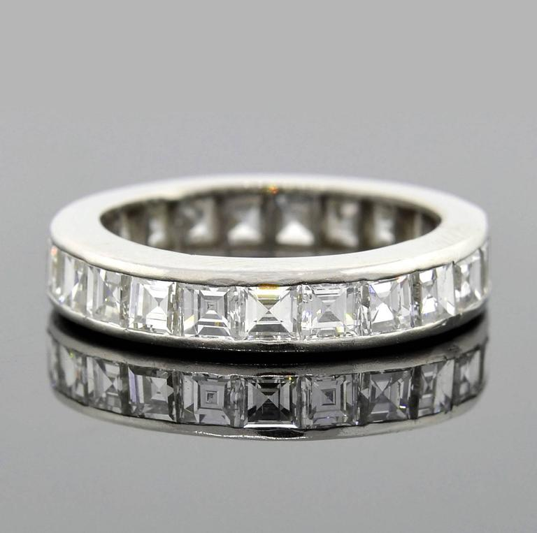 platinum bands cut band eternity diamond products baguette alternating round