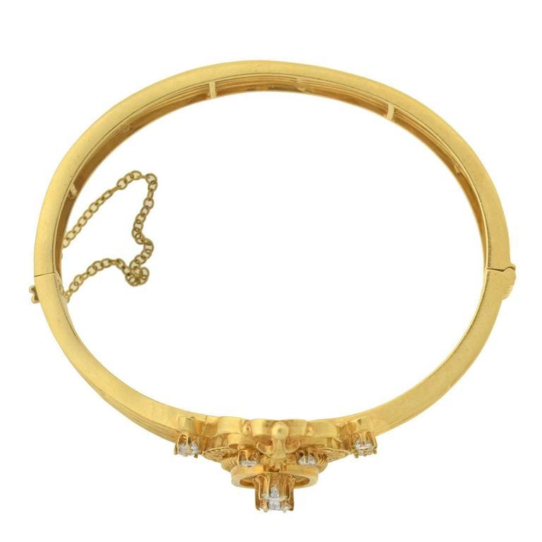 Victorian Revival Diamond Gold Bracelet For Sale 1