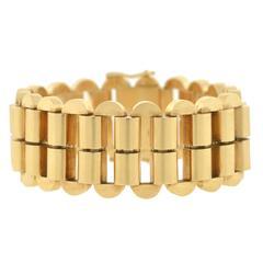 Retro Austrian Gold Link Bracelet