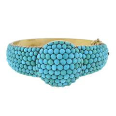 Victorian Pavé Turquoise Bangle Bracelet