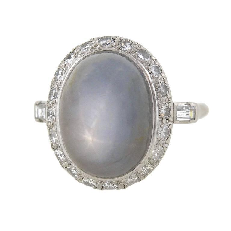 1930s deco sapphire platinum ring at 1stdibs