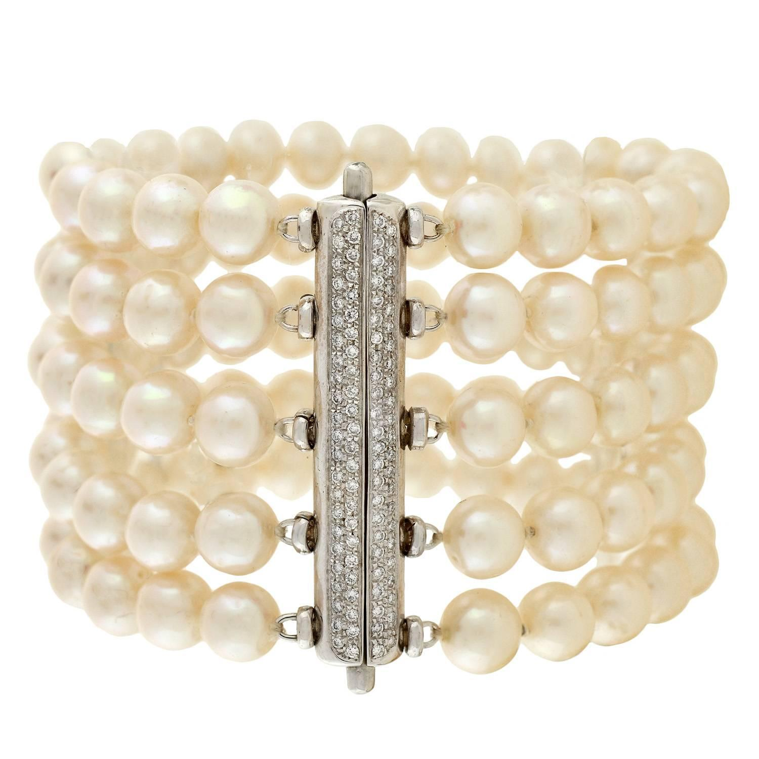 pearl products victorious diamond bracelet yellow vintage and img bangle gold