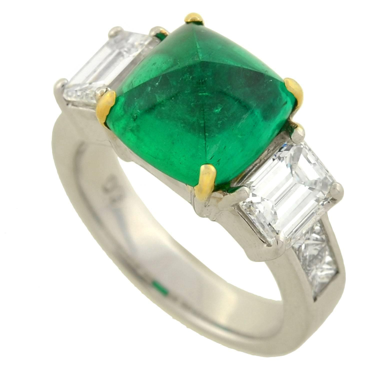 Fresh Colombian Emerald Wedding Rings
