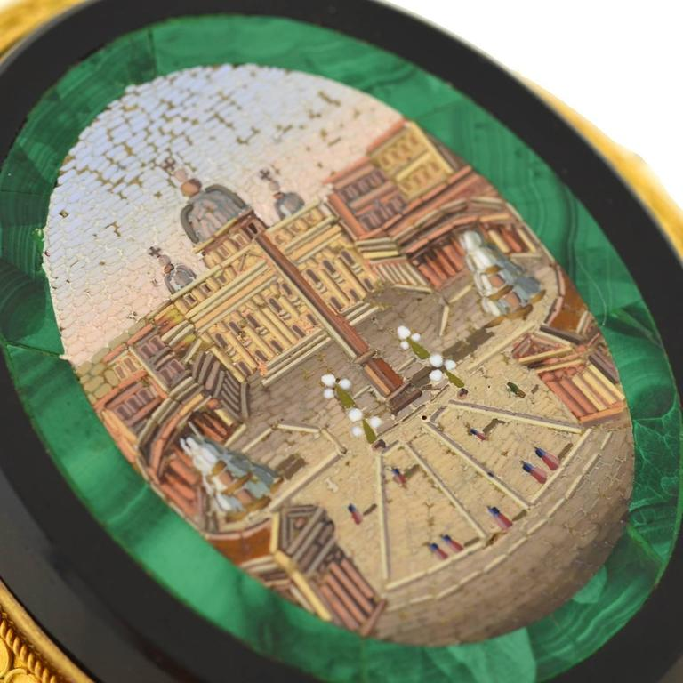Women's Victorian Impressive Vatican City Micro Mosaic Pin/Pendant For Sale