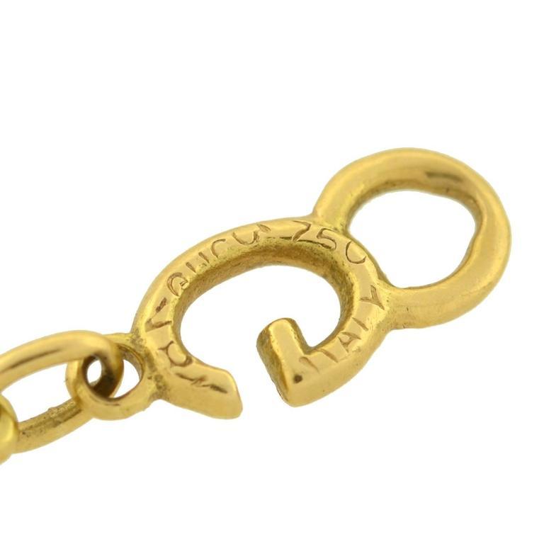 GUCCI Vintage Enameled 'G' Link Gold Bracelet 6