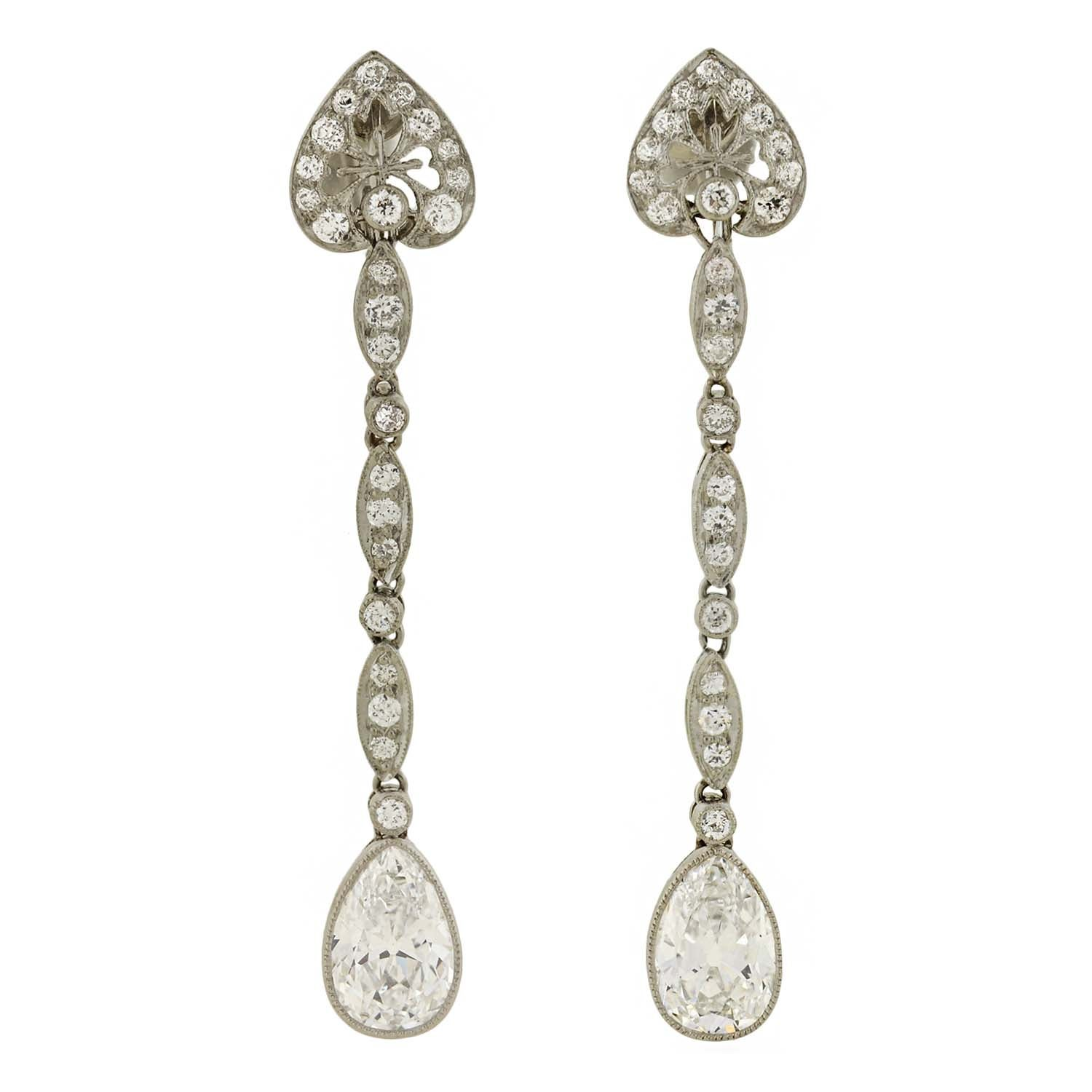 tiffany outline co platinum heart bloomsbury products earrings diamond tde