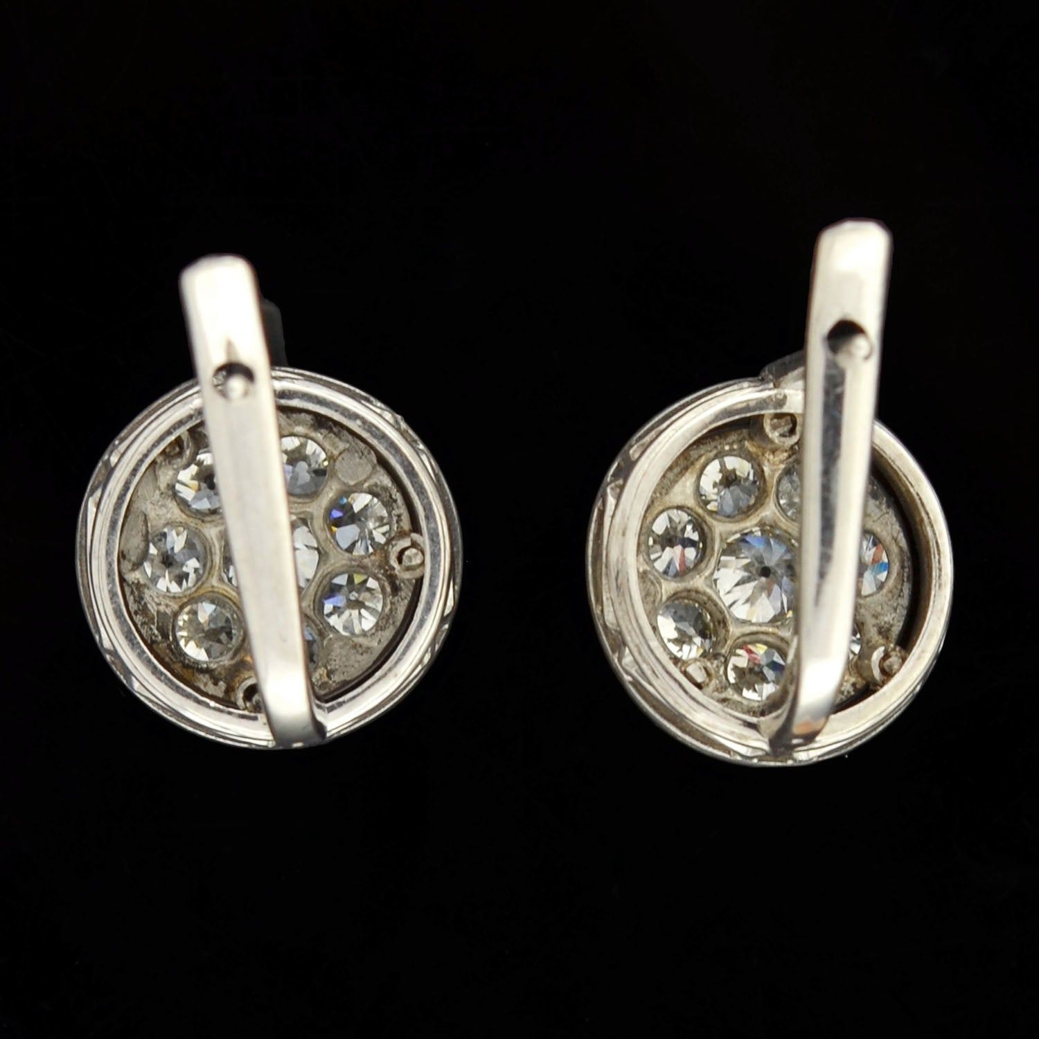 catherine or cluster earrings lv opal popesco black crystal pacific diamond