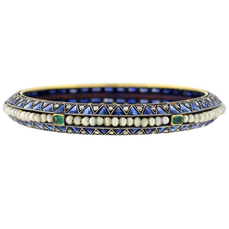 An Outstanding Bracelet From The Edwardian Ca1915 Era This Beautiful And Unusual Bangle
