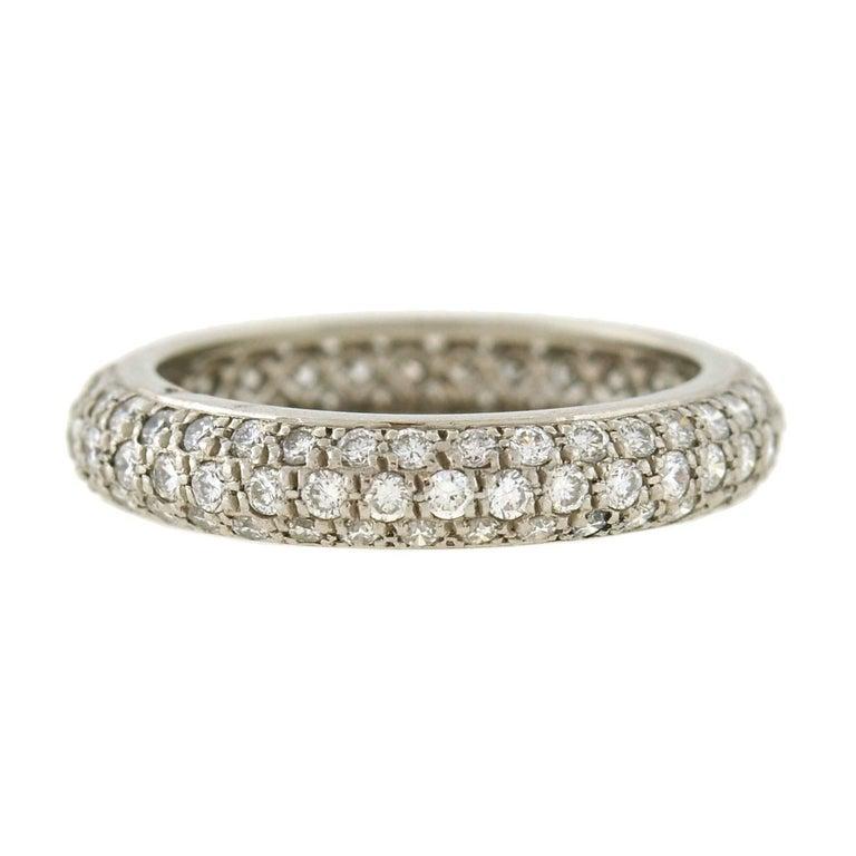 Cartier Infinity Bracelet: Cartier French 1.50 Carats Pavé Diamond Eternity Band For
