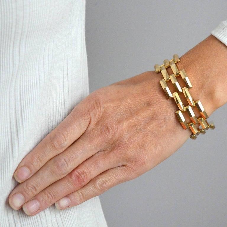 Tiffany Co Vintage Gate Link Gold Bracelet For 2