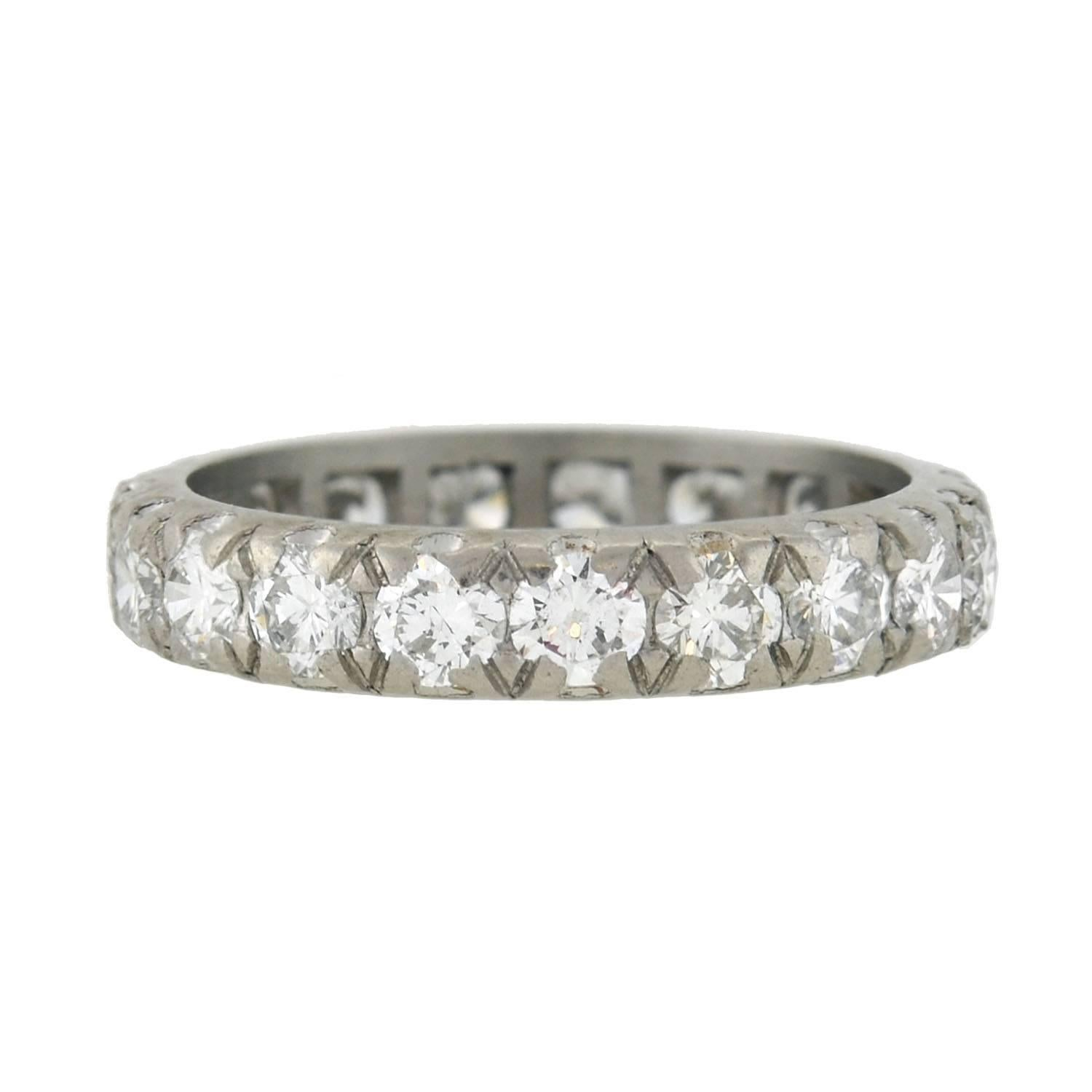 band dia design classic d diamonds ring eternity carat princess product bands certified gold diamond wg cut