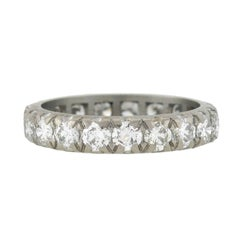 Retro 2.50 Total Carat Diamond Platinum Eternity Band