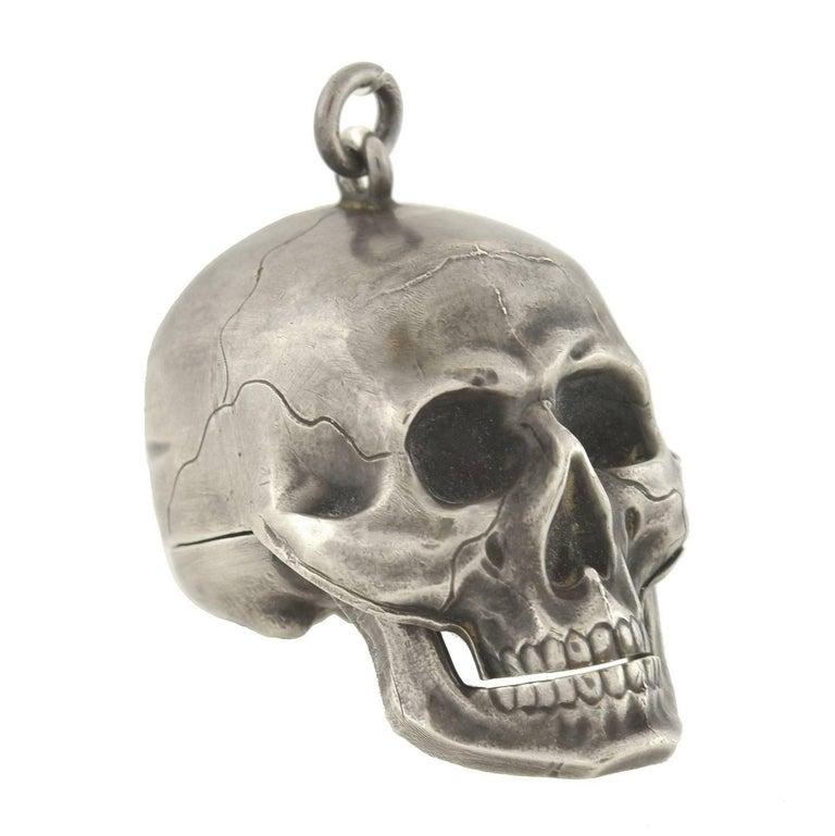 Paul Ditisheim Montre Hamlet Silver Skull Pocket Watch