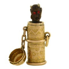 "Victorian Hidden Pop-Up Devil ""Temperance"" Capsule Charm"