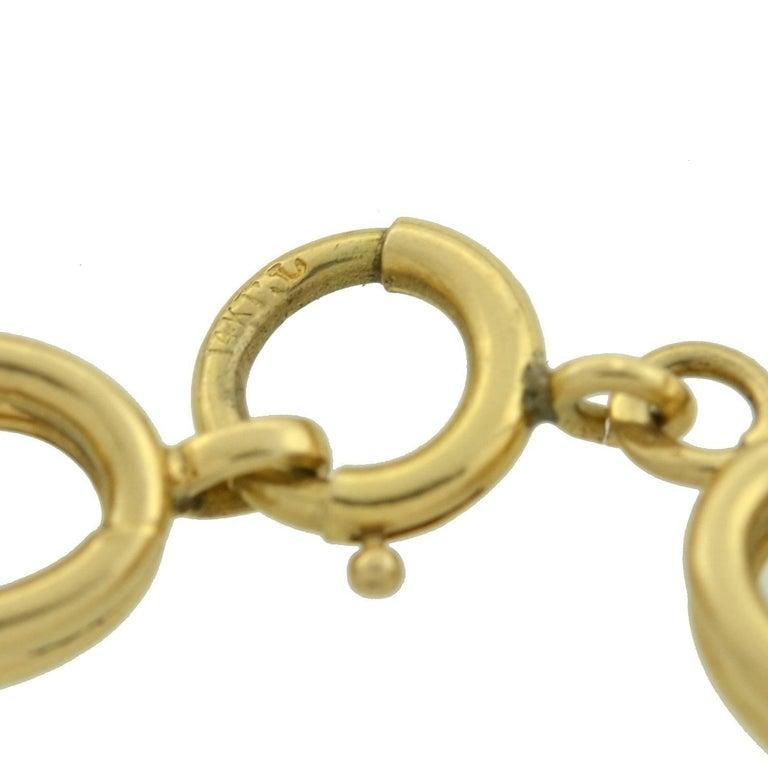 Krementz 1950s Gold Link Chain Necklace For Sale 3