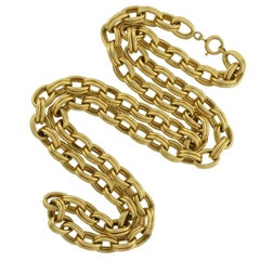 Krementz 1950s Gold Link Chain Necklace