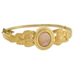 Art Nouveau Angel Motif Opal Bracelet