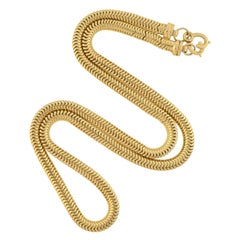 Retro Gold Snake Chain Necklace