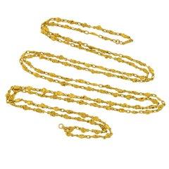 Victorian Rare Genuine Gold Nugget Chain Necklace 45.57 Grams